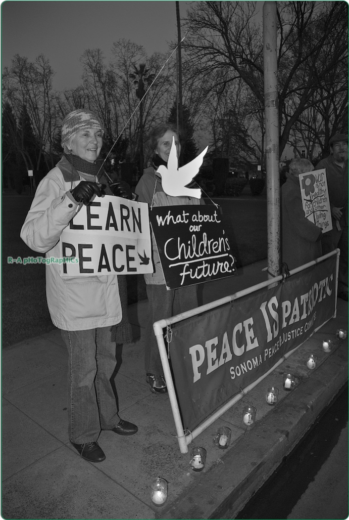 #33+ B&W Many A Dove W Activism 4 Peace…(1 28 11) (12.75W X 17H) Edited 7 28 12 & 9 22 14 @ SRC & 2 27 16 @ OFO..